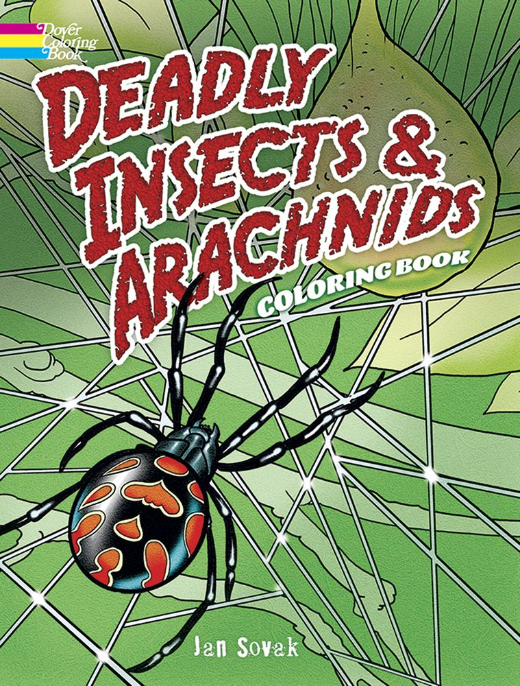 Deadly insects and spiders bugs coloring book by Dover