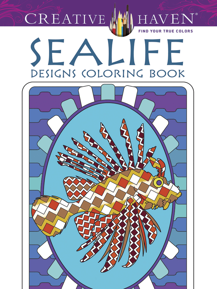Sea life coloring book, creative haven by dover