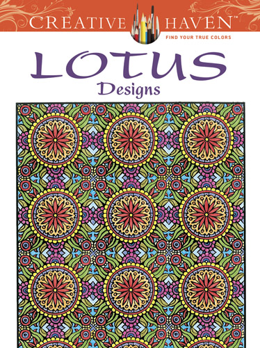 Complex lotus design coloring pages for teens or adults