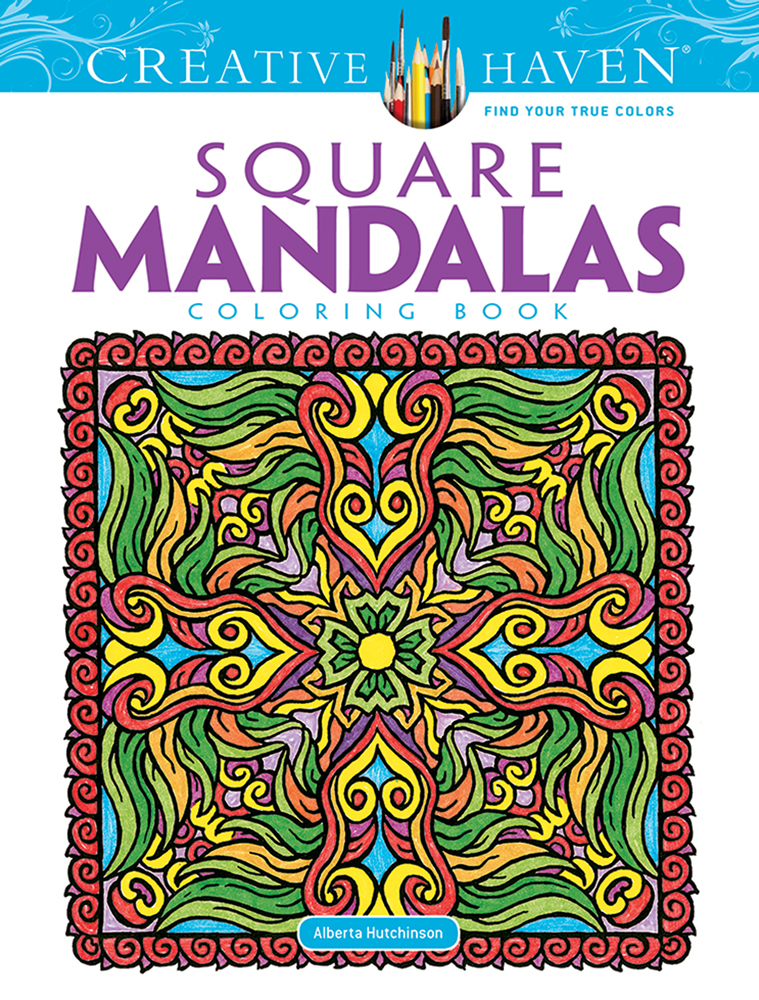 Creative Haven Square Mandalas Coloring Book