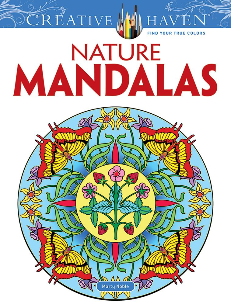 Nature mandalas creative haven coloring book