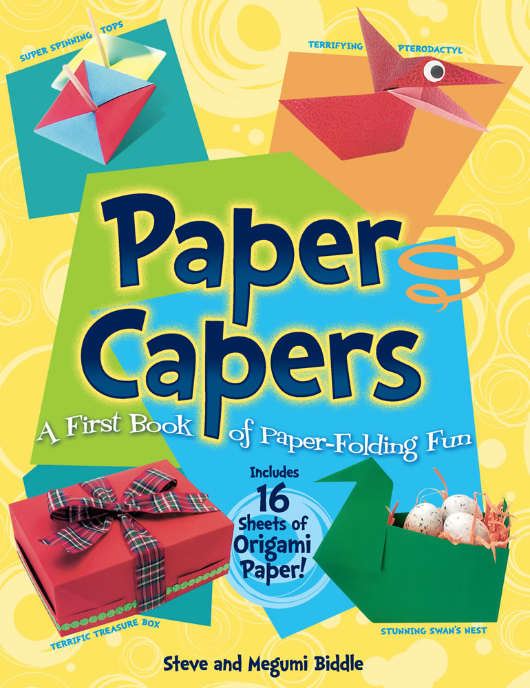 Easy paper folding craft kit with 16 origami paper sheets