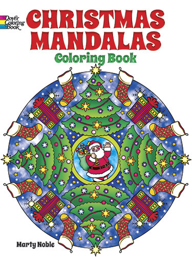 Whimsical Christmas mandalas coloring book
