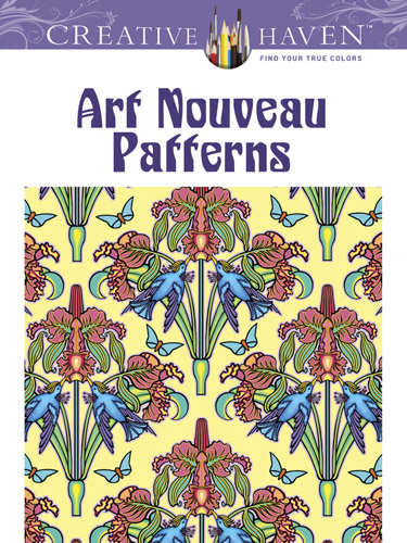 Vintage design art nouveau patterns coloring book
