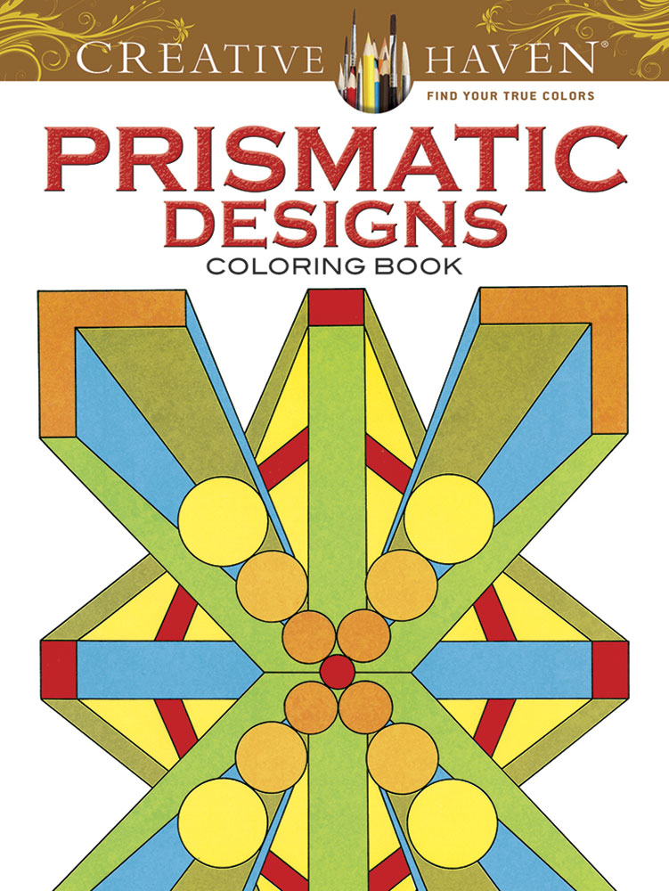 Prismatic design patterns coloring book