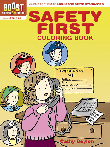 Safety lessons coloring book for children