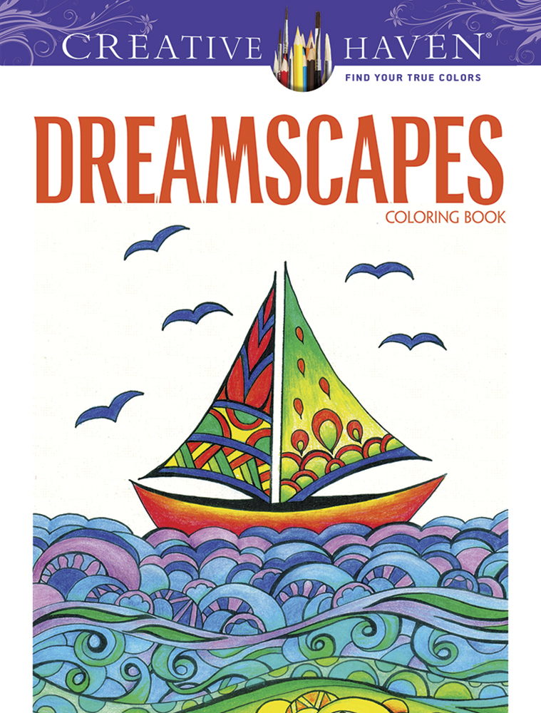 Dreamscapes adult coloring book, Dover Creative Haven series