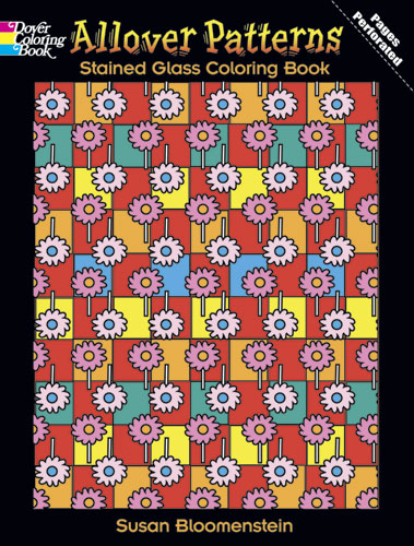 All over patterns design coloring book