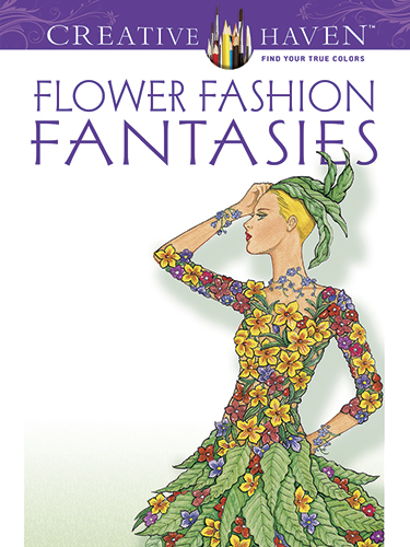 Flower fashion fantasy coloring book