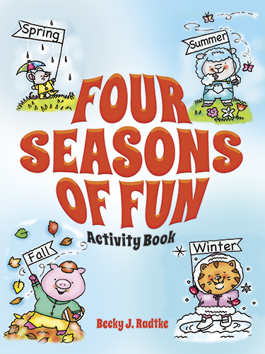 4 seasons activity book for children