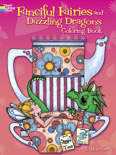 Fairies and dragons coloring book