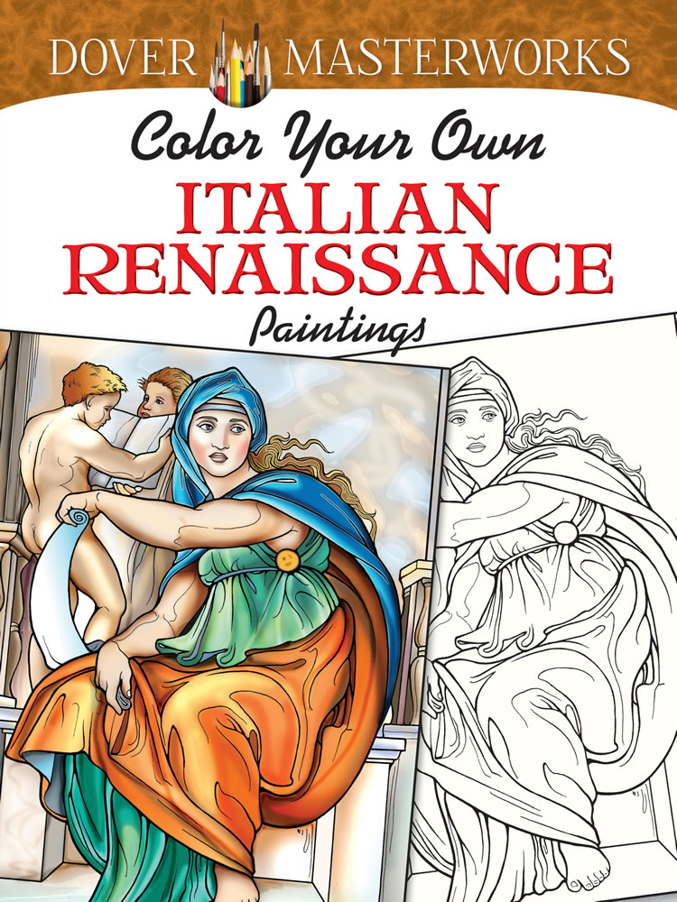 Renaissance Paintings Art Coloring Book