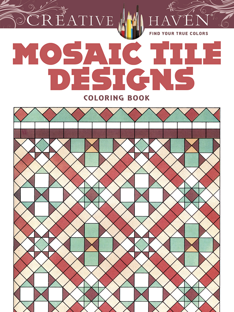 Mosaic designs coloring book