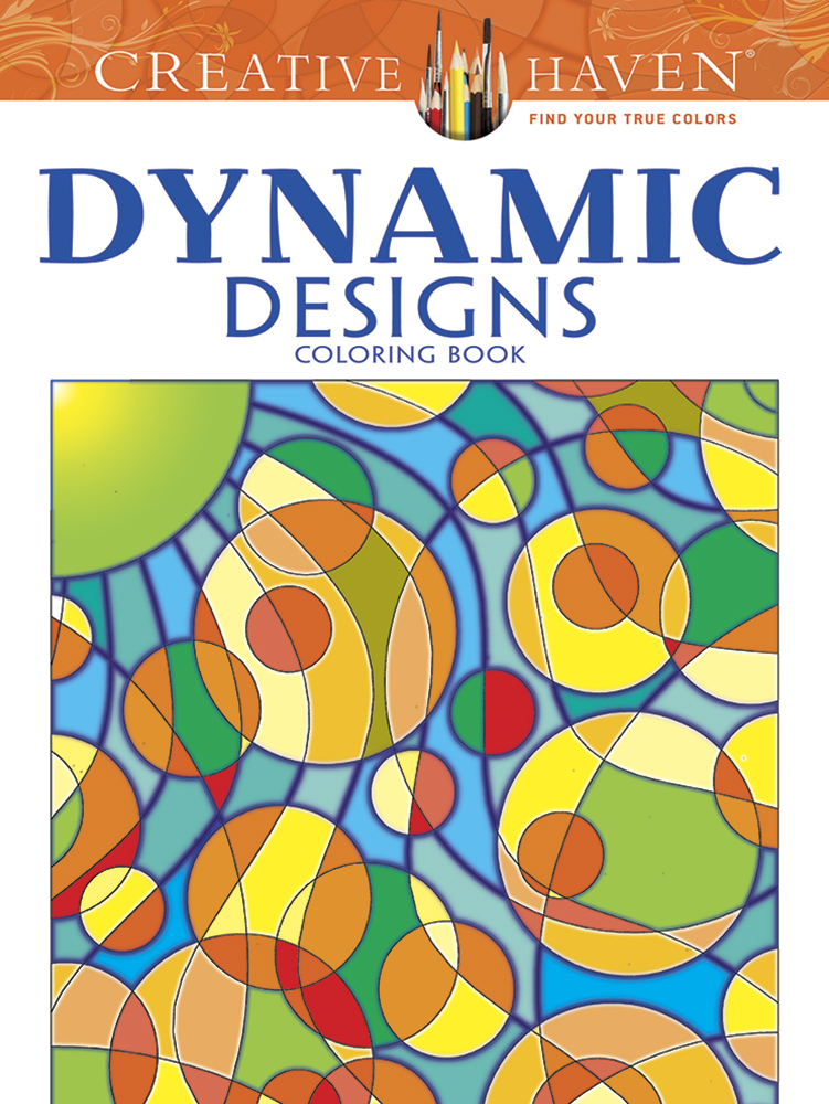 Dynamic Abstract Designs Coloring Book