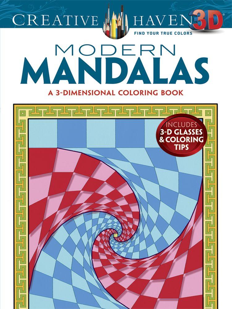 3D Modern mandalas coloring book