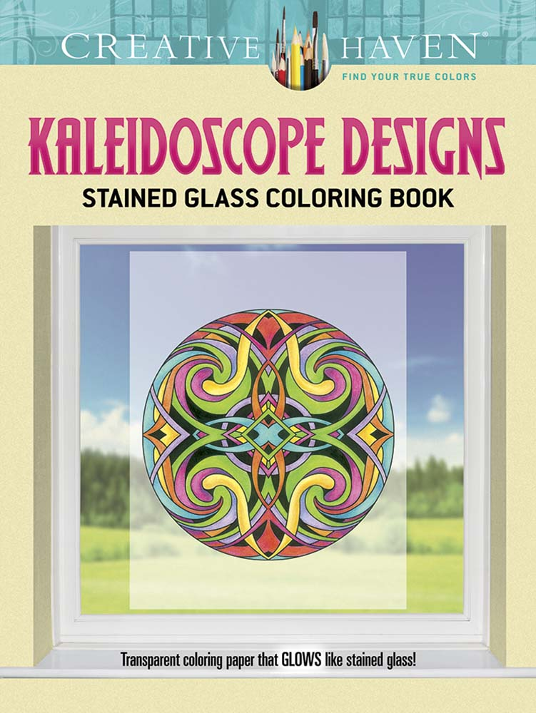 Kaleidoscope Designs For Coloring Creative Haven Stained Glass Book
