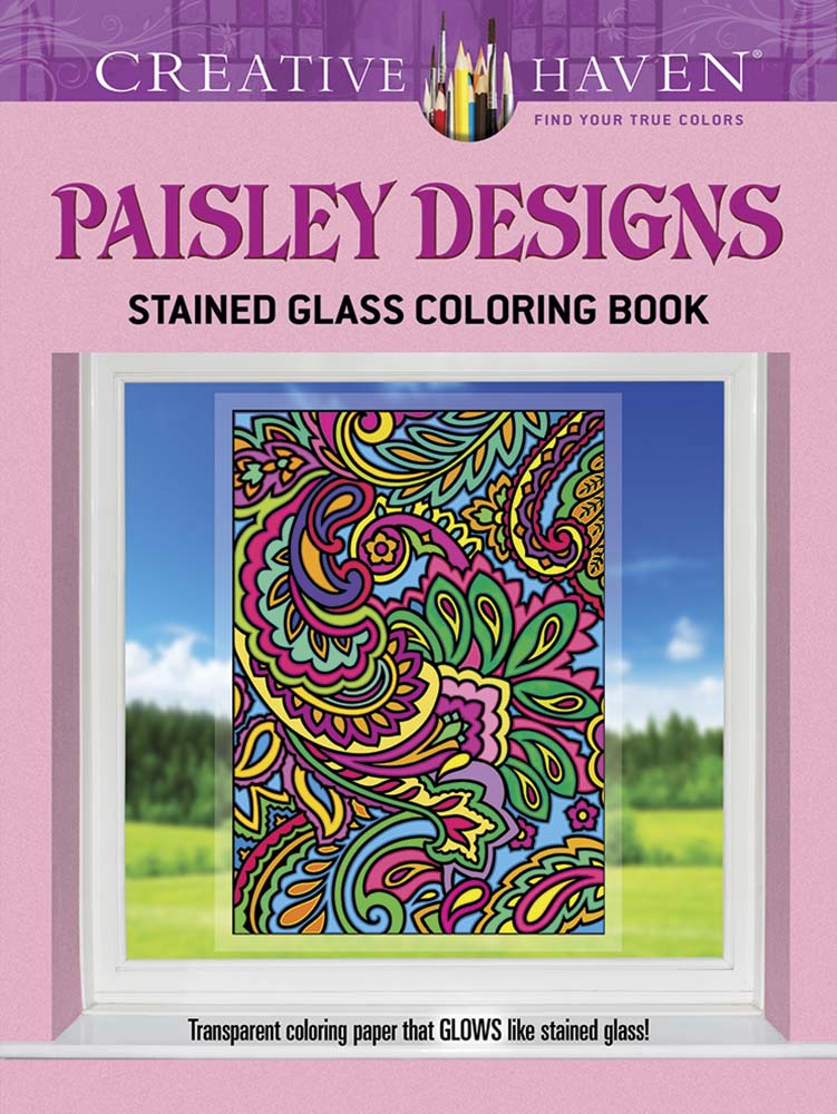 Paisley Designs adult coloring book