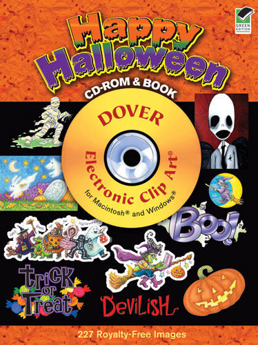 Halloween clip art on CDrom from Dover