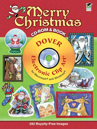 Merry christmas clip 282 graphics on CDrom