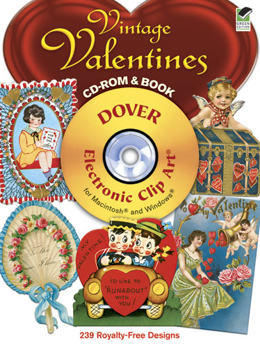 Vintage clip art Valentines CD ROM and book