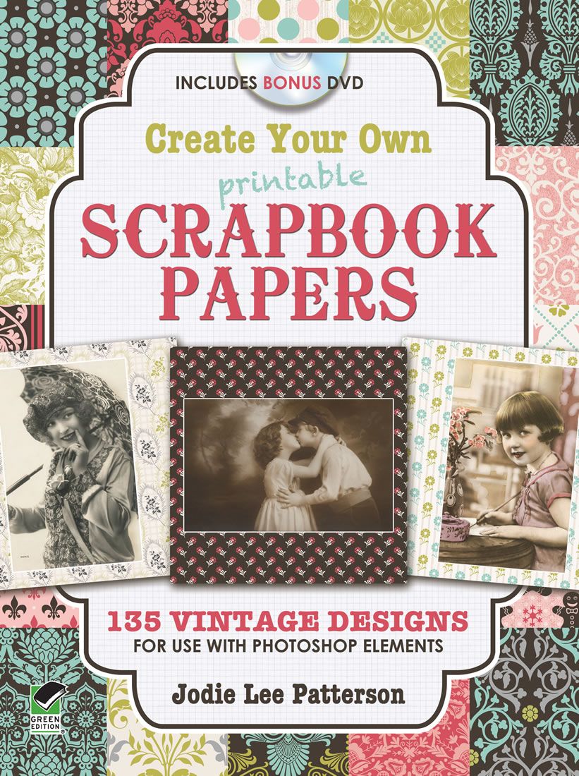 Design vintage scrapbook papers clip art DVD
