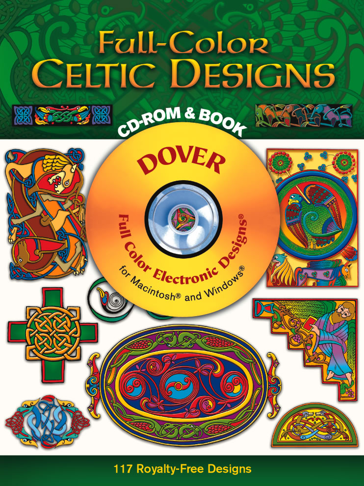 Celtic design digital clip art on CDROM