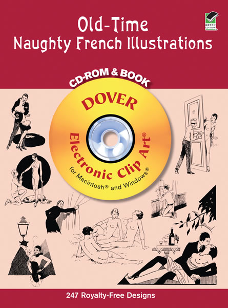 Naughty nude coloring pages, vintage French illustrations