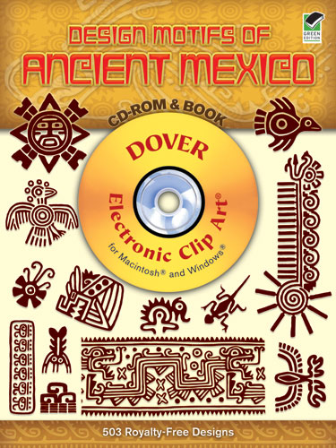 Mexico design motifs clip art and book