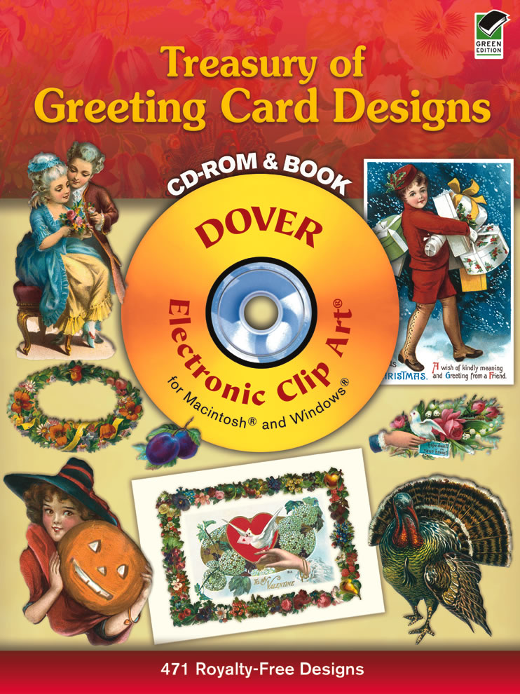 Vintage greeting card designs clipart digital and book