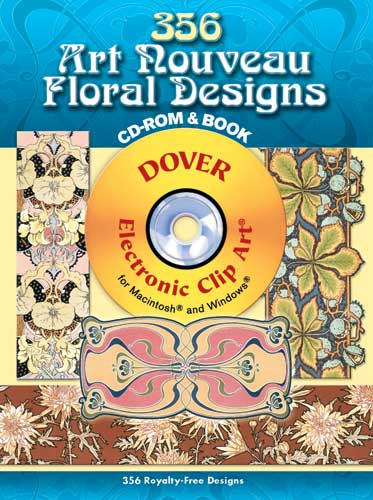 Vintage floral designs clipart cdrom and book vintage graphics