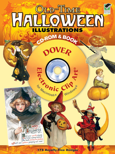 Vintage Halloween clip art digital graphics CDROM  and book