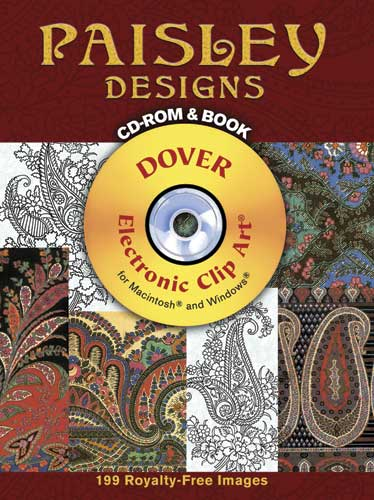 Paisley designs book and CD-ROM for coloring and crafts