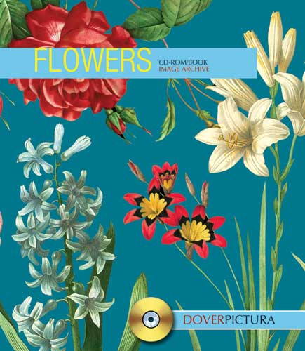 Flower graphics on CDROM by Dover Pictura