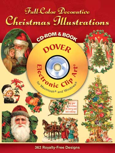 Christmas illustrations clip art on CDrom and book