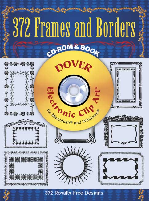 Frames and borders clip art  set