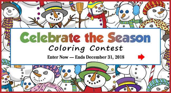 Celebrate the Season Coloring Contest