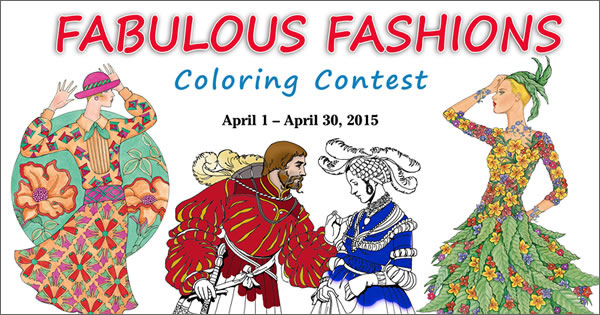 Fabulous Fashions Coloring Contest