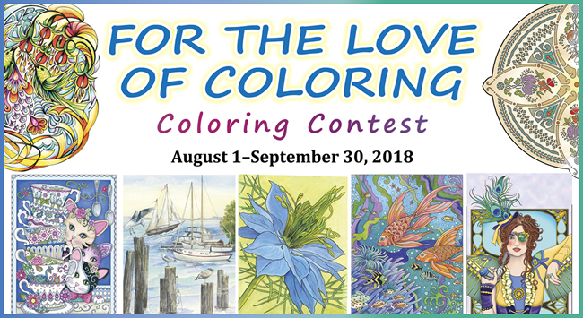 For the Love of Coloring Coloring Contest