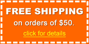 Save with Free Shipping on orders of $50
