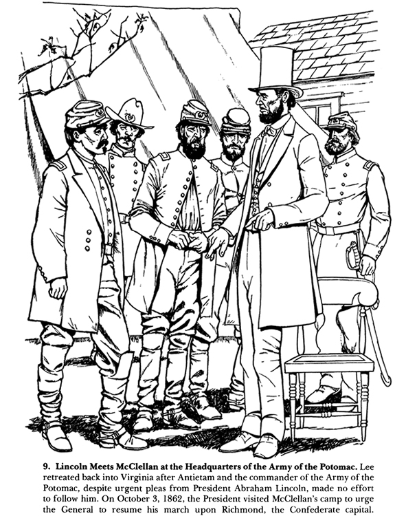 civil war solders coloring pages - photo#28