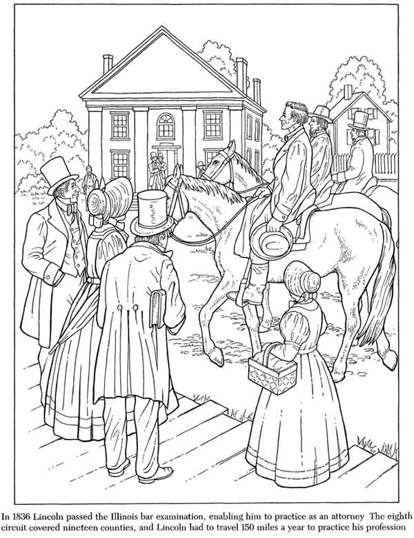 abraham lincoln log cabin coloring pages - photo #40