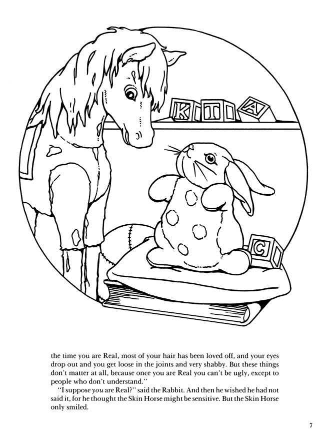 Velveteen rabbit and coloring pages ~ Welcome to Dover Publications