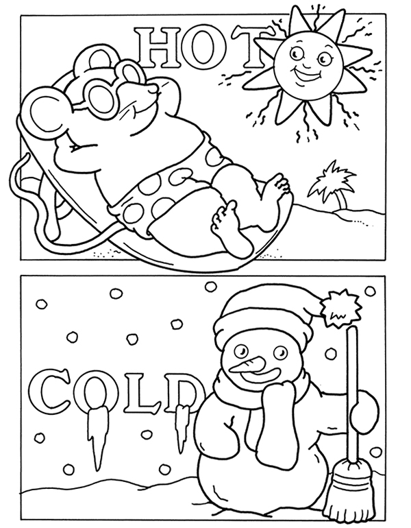 Coloring sheets for hot weather coloring pages for Cold weather coloring pages