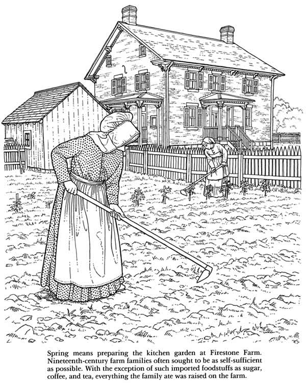 old fashioned coloring pages free - photo#34
