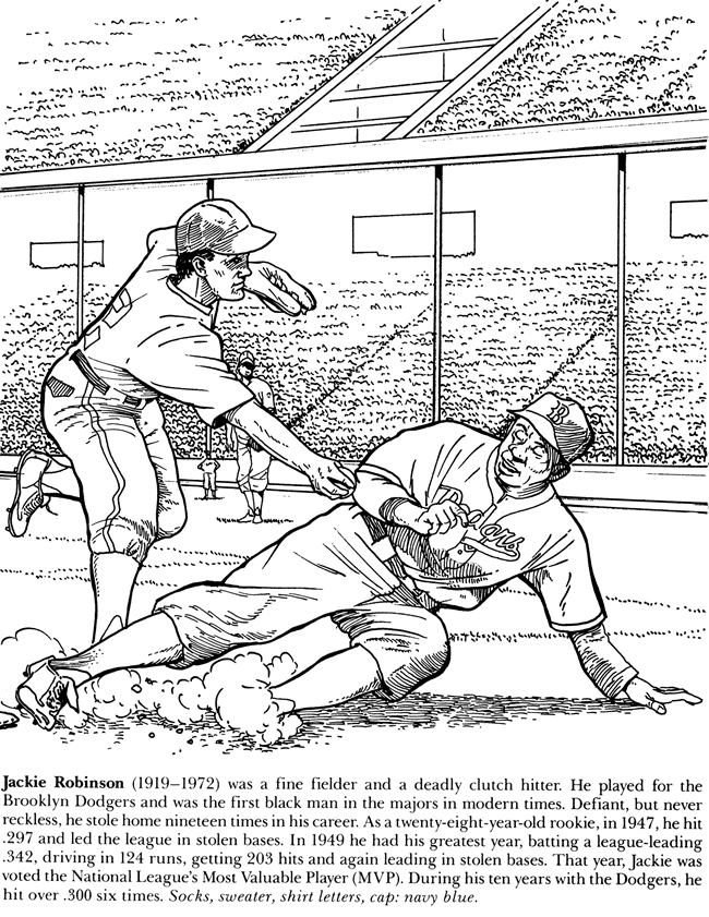 Welcome to dover publications for Babe ruth coloring pages