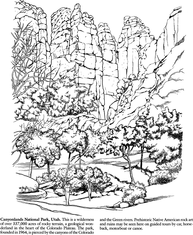 National Parks Coloring Page