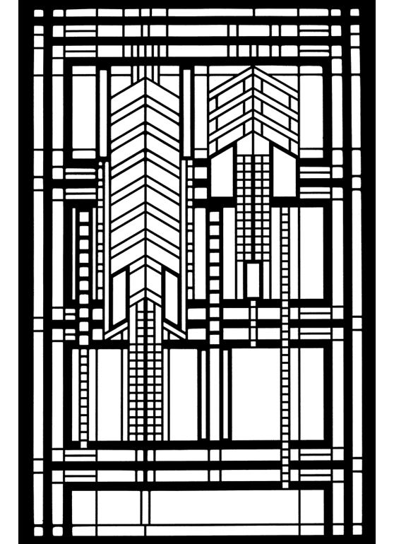 Free coloring pages of frank lloyd wright for Pages for windows