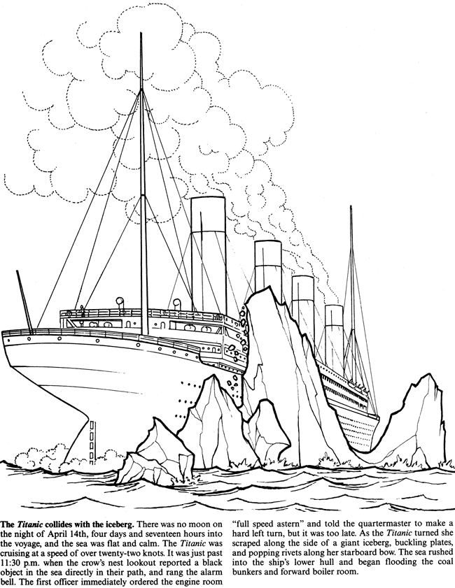 Easy Of The Titanic Coloring Pages