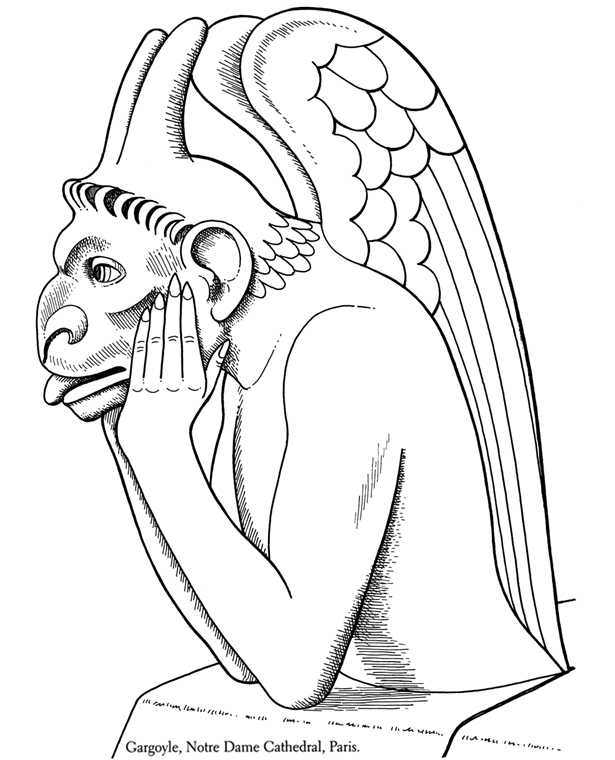 gargoyle coloring pages - photo#4