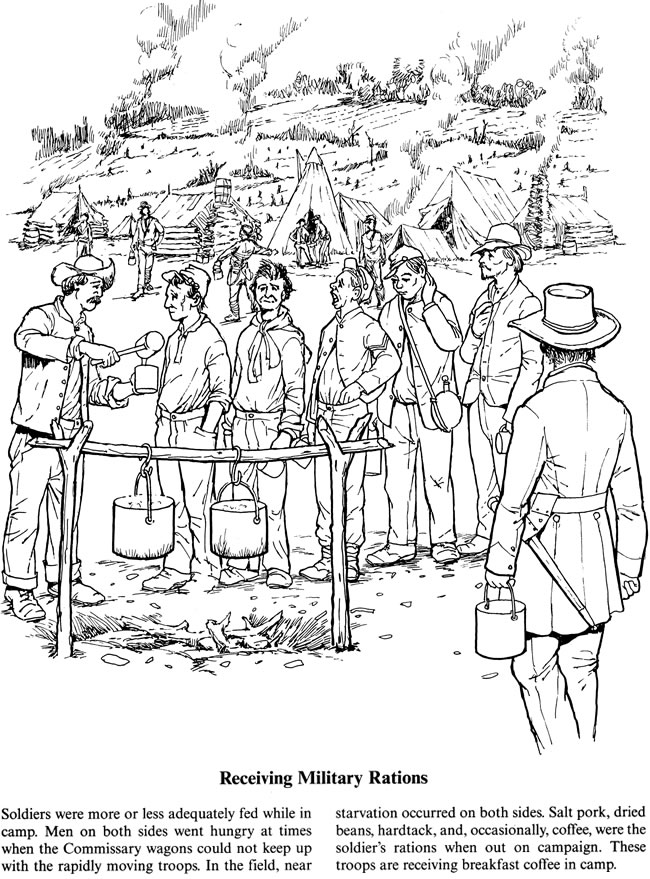 civil war solders coloring pages - photo#11